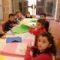 Los pequeños aprenden sobre el mosaico romano, los meses y los días del año