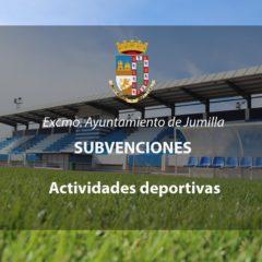 Un total de 45.000 euros se destinan a subvenciones para la realización de actividades deportivas