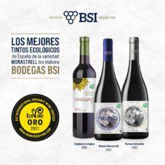 Tres vinos de BSI obtienen Oro en el Concurso Internacional Ecovino