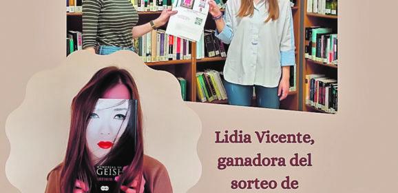 Lidia Vicente gana el concurso BookFace convocado por la Biblioteca Municipal