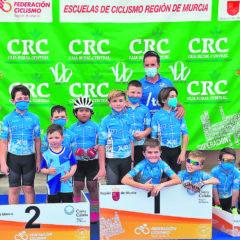 Miembros de la Escuela de Ciclismo se traen siete trofeos de Alcantarilla