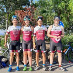 Cuatro triatletas del Club de Jumilla estuvieron el domingo en el ITriatlón Ciudad de Calasparra