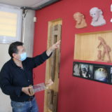 La máquina donde Salzillo hacía sus esculturas se expone en el Museo Arte y Vino de Spiteri