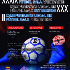 La Liga Local de Fútbol Sala iniciará una nueva edición el 12 de noviembre después de 18 meses de suspensión