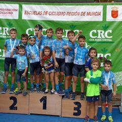 Los jumillanos, primeros y segundos puestos en la recta final del campeonato de escuelas de ciclismo