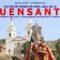 Este domingo, miembros de la hermandad de la Virgen de la Soledad participan en la procesión de la Fuensanta