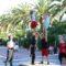 UpArte desplegó en el paseo un espectáculo de acrobacias aéreas