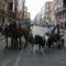 Baja la participación en el desfile de caballos y carruajes de Feria