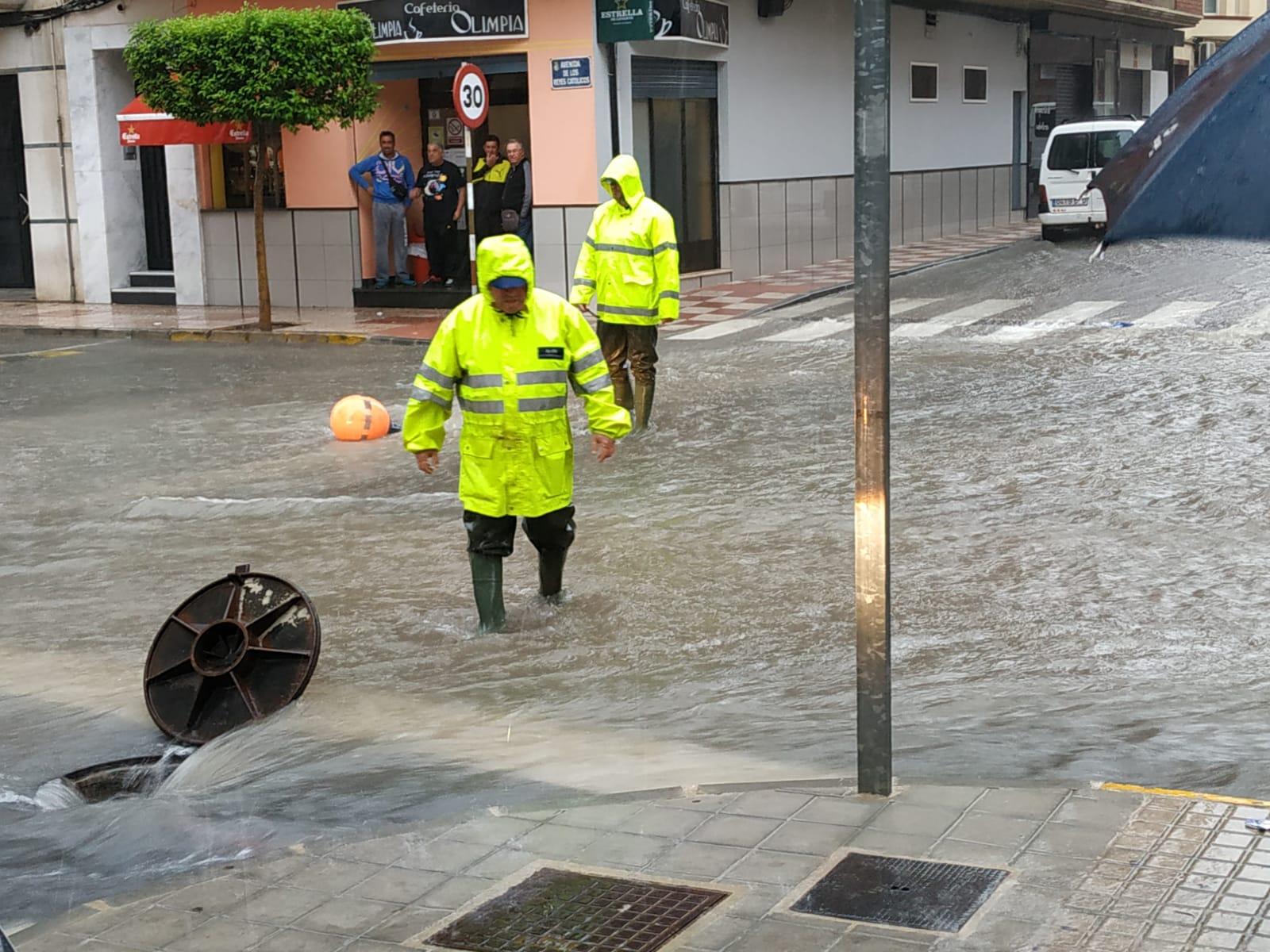 Jumilla también vive los efectos de la gota fría que está asolando el Levante español
