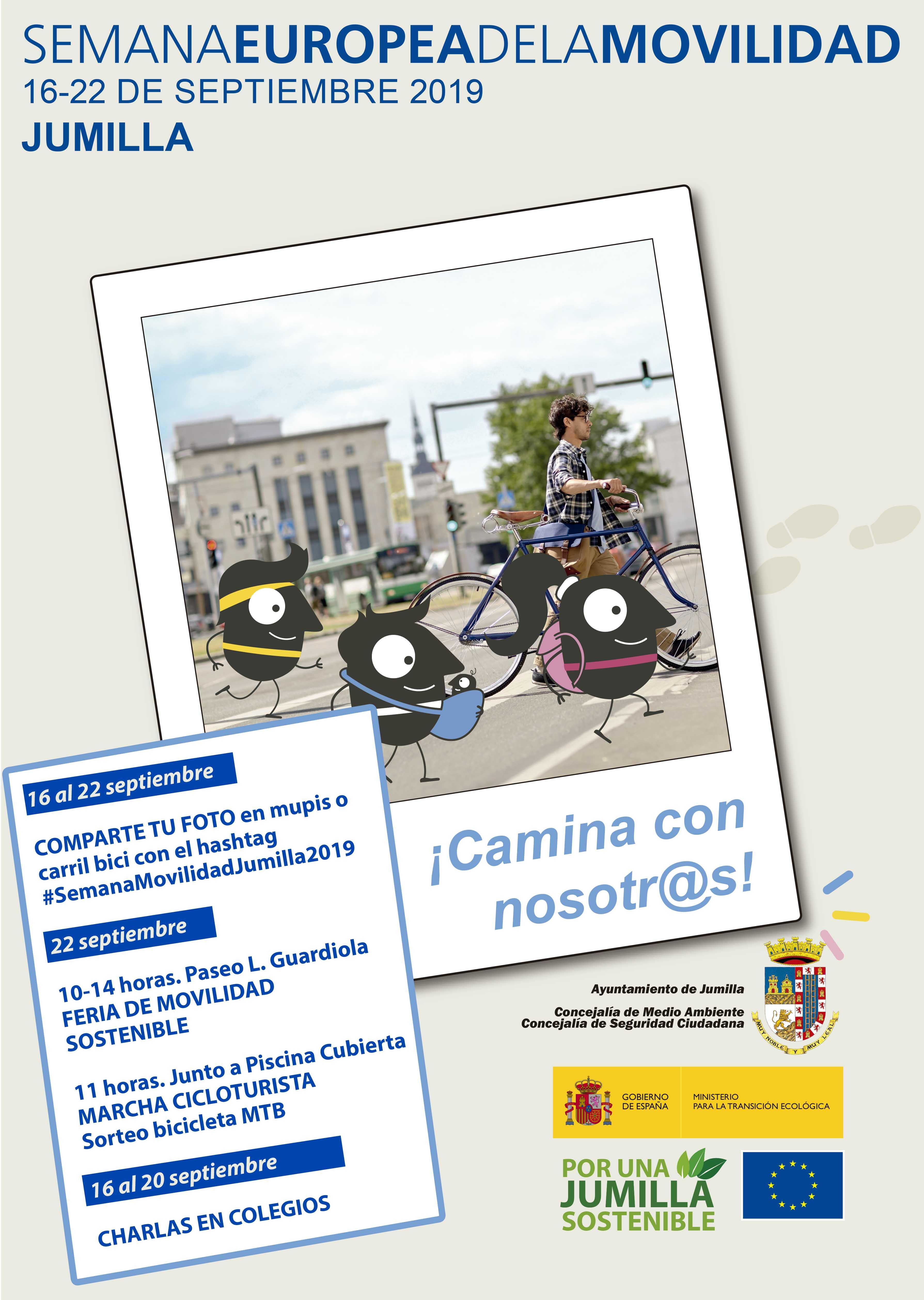 Jumilla celebra, con varios actos, la Semana Europea de la Movilidad