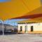 La Plaza de las Escuelas de la Cañada del Trigo cuenta  ya con un nuevo sombraje