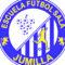 La Escuela de Fútbol Sala Jumilla ya luce su nuevo escudo