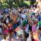 Multitud de personas se 'refrescaron' en la Fiesta de la Espuma del pasado lunes