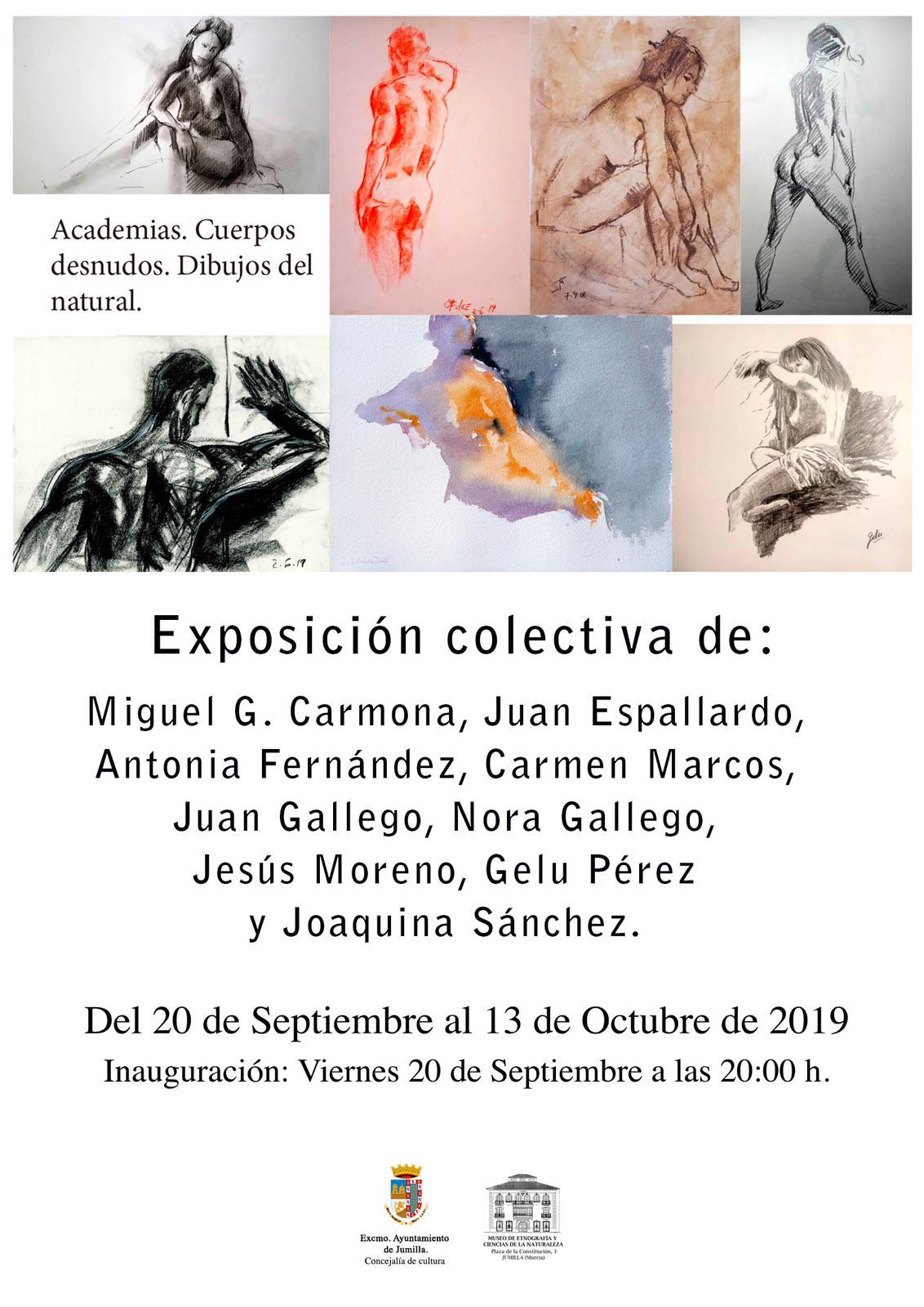 Este viernes se inaugura una exposición colectiva de cuerpos desnudos y dibujos al natural